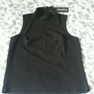 Boohoo isabella high neck sleeveless top